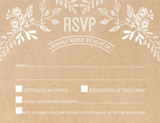 Rustic Floral Sketch - RSVP Cards